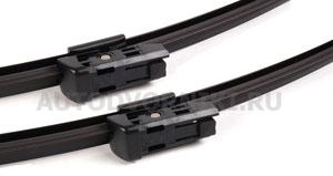 Комплект стеклоочистителей Valeo Silencio Flat VF841 600 мм и 600 мм: купить за 3190 ₽